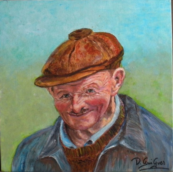 old and happy french farmer