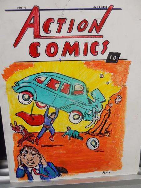 Action Comics Superman Holy Grail Art!!