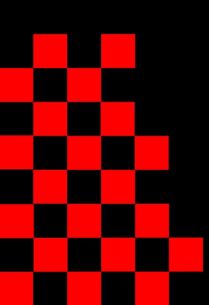Checkered Flag in Red