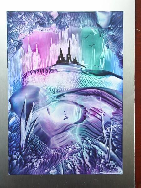 encaustic wax fantasy castle