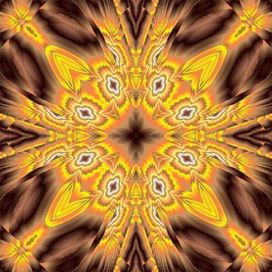 yellow brown mandala