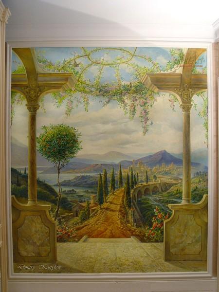 Italian landscape mural