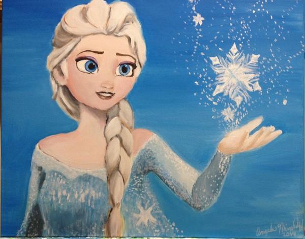 Elsa painting