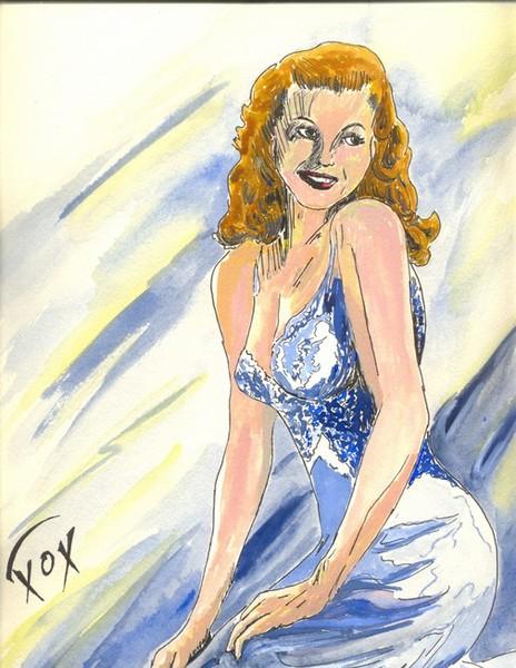 Rita Hayworth Unframed