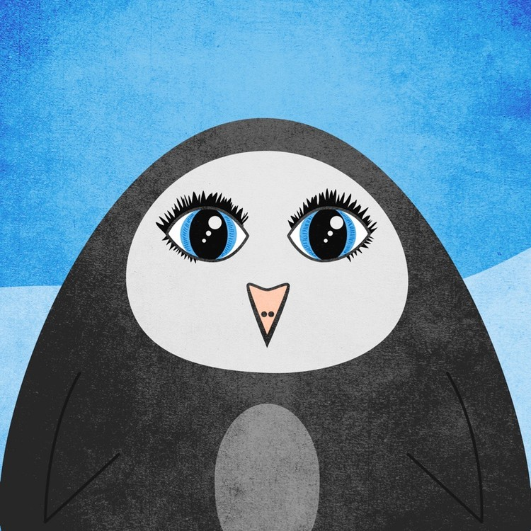 Cute Geometric Penguin