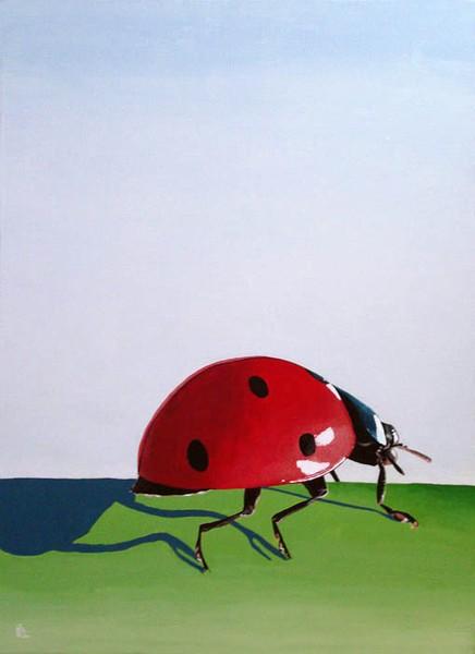 The Long Journey - ladybug painting