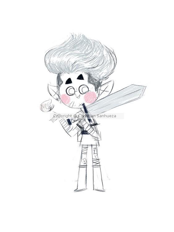 Little warrior dude