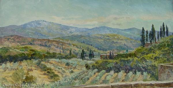 View on Vilagio Oriente . Arezzo .Toscana