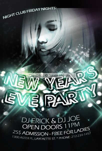 Custom New Years Eve Flyer