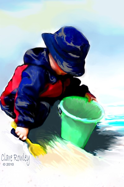 Boy with Sand Bucket
