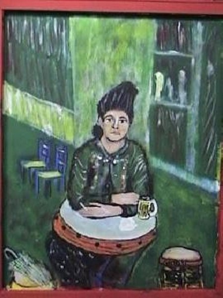 WOMAN  AT  CAFE  BY GATO