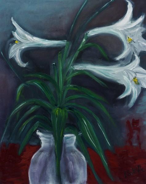 Mums Lillies by Liz Sutcliffe
