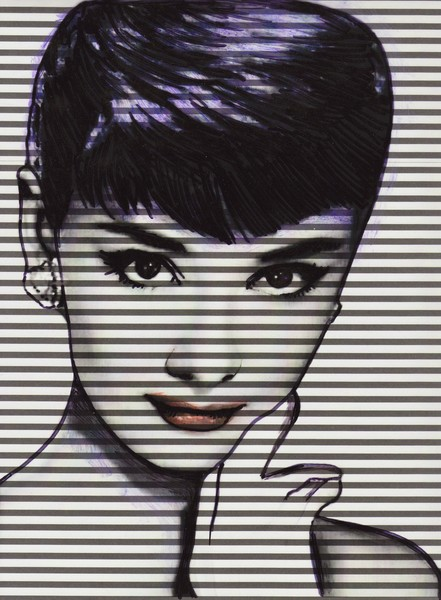 Audrey Black Stripes