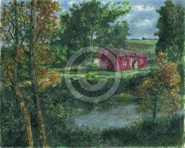Roten Haus 50x40 oil on canvas
