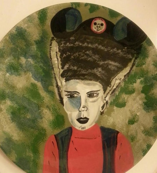 Bride of Frankenstein as Annette Funicello Plate