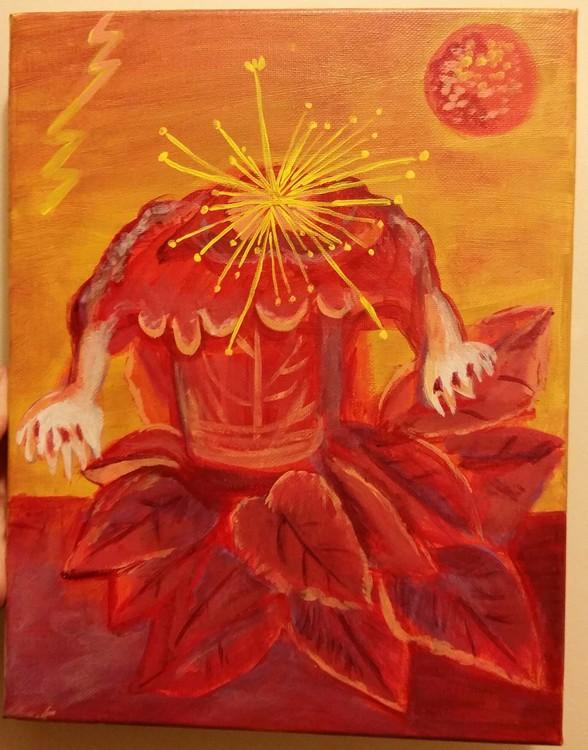 Frida Kahlo Flower of Life replica