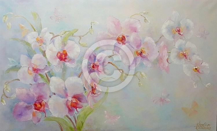 painting *Orchid- wonderful and elegant*