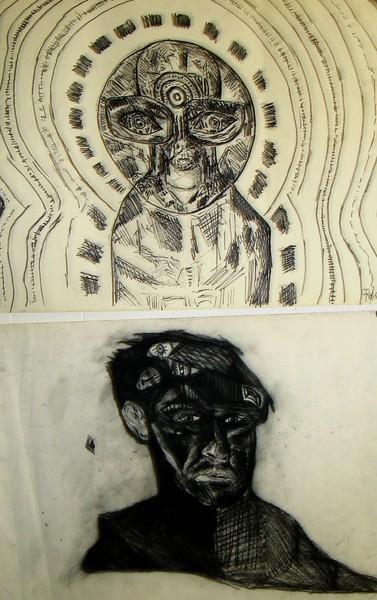 2 drawings 1996