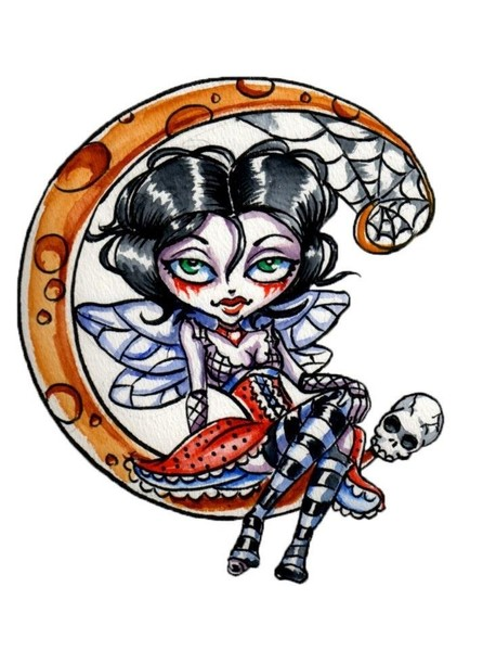 Goth Fairy on the moon