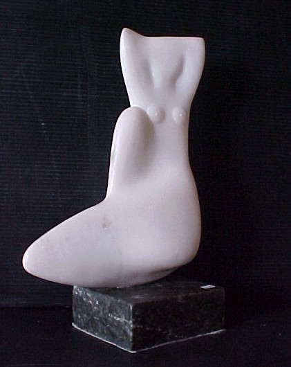 Seated Woman Marble and Granite 7,000