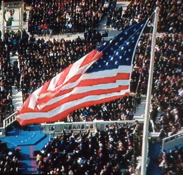 American Flag on Inauguration Day