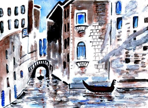VENICE, CANAL SCENE