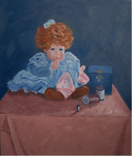 SOLD Grandma's Porcelain Doll
