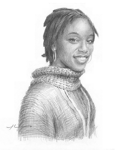 woman pencil portrait