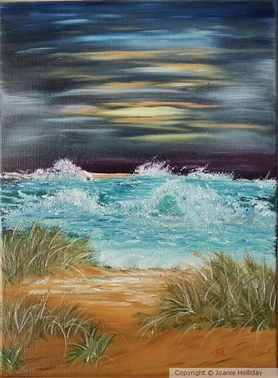 SEASCAPE IN OIL