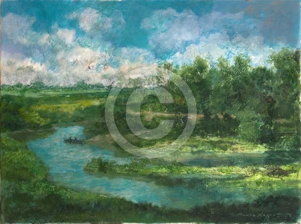 Sommertag 40x30 acrylic on canvas