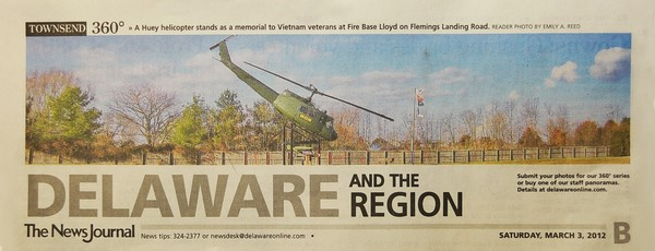 42nd News Journal Panorama-Vietnam Vets Memorial