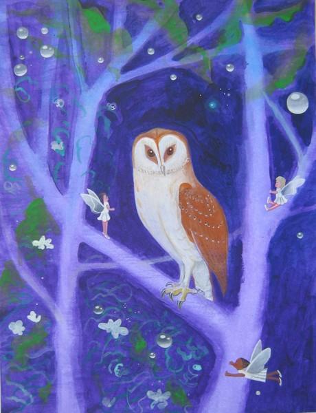 Fairies with Barn Owl