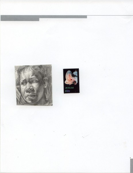 Image of drawing with stamp..size ratio