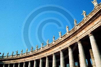 S. Peter's Colonnade - Rome, Italy