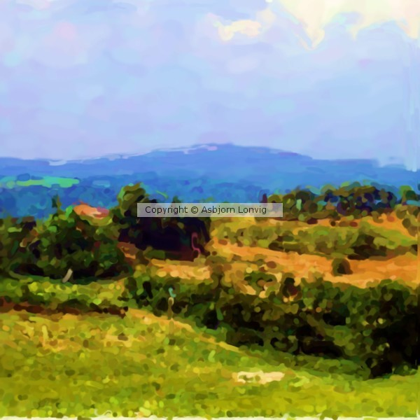 Tyscan Hills near Volterra Q Painting