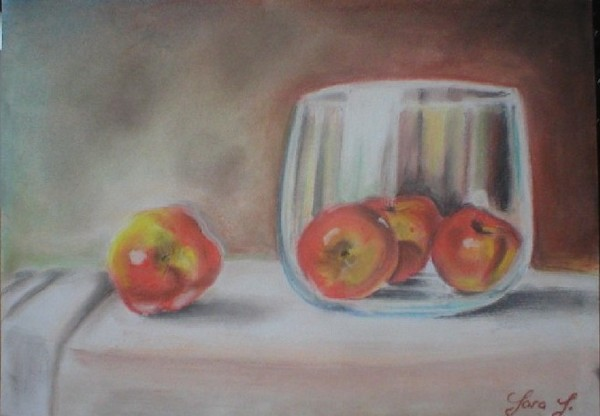 Apples and the glass bowl