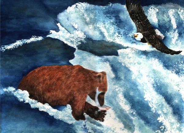 bear and eagle