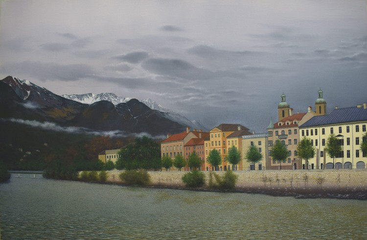 Innsbruck from River Inn Bridge
