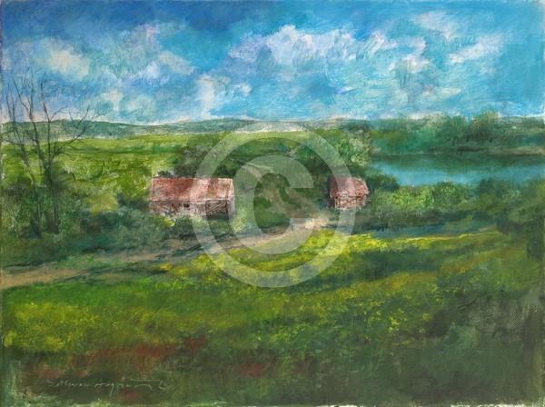 Zwei Häuser 40x30 acrylic on canvas
