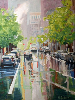 Cathedral Street - Rain