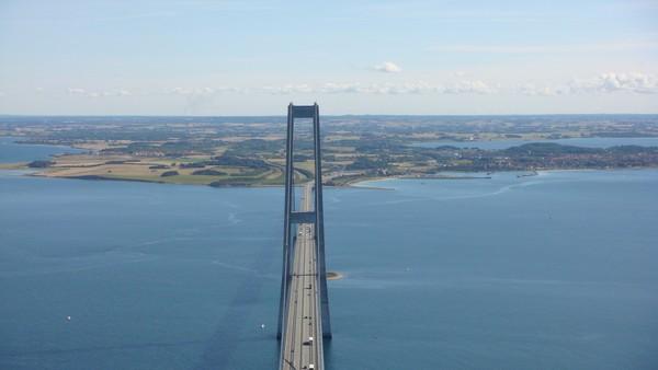 Top Of The Great Belt Bridge Denmark