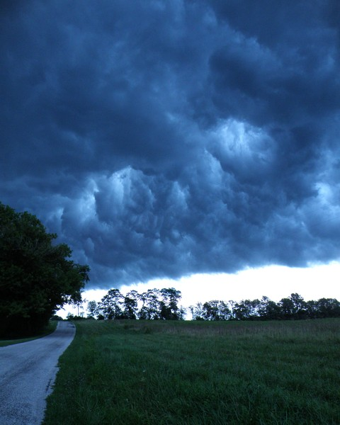 Storm on Country Road