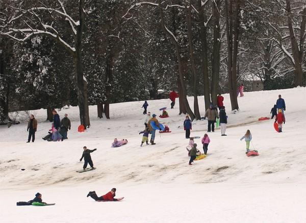 People Sliding in Ridgewood, NJ
