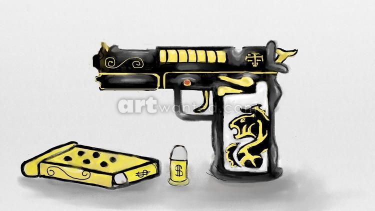 Black and Gold Gun