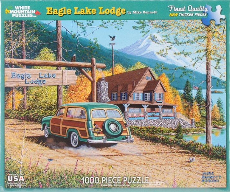 Eagle Lake Lodge Jigsaw Puzzle