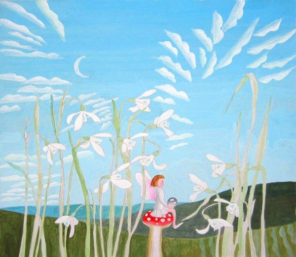 Fairy with Snowdrops
