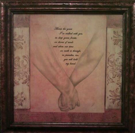 Holding Hands framed
