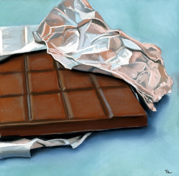 foiled chocolate bar