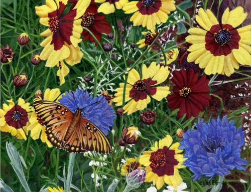 ButterflyWildflowersFloral-2 Oil Painting