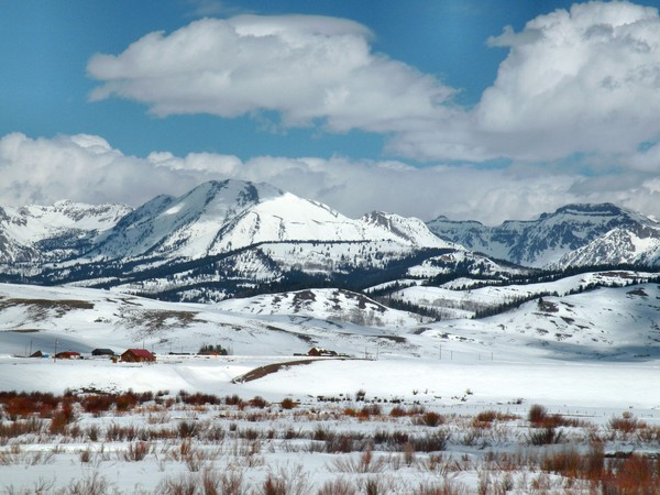 The Gros Ventre Range, Bondurant, Wyoming, US